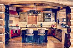 Hybl log home constructed by Rustic Mountain Log Homes of Big Bear Lake CA.
