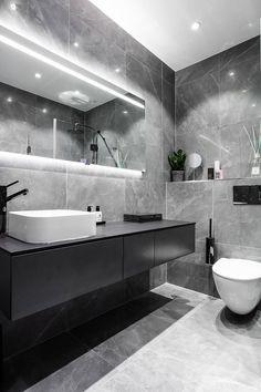 Blue velvet sofa and bold bedroom: modern apartment in Stockholm PUFIK. - Blue velvet sofa and bold bedroom: modern apartment in Stockholm PUFIK. Modern Bathroom Design, Bathroom Interior Design, Modern Interior Design, Modern Bedroom, Marble Interior, Modern Sofa, Designs For Small Bathrooms, Latest Bathroom Designs, Modern Apartment Design