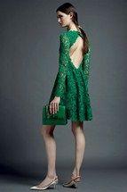 | Valentino - Pre Spring/Summer 2013 at Paris Fashion Week    Green Leaves Detail