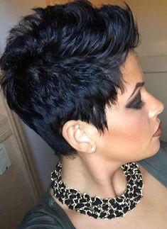 Short Choppy Hair, Short Curls, Short Pixie Haircuts, Short Hair With Layers, Short Hair Cuts For Women, Short Hair Styles, Funky Hairstyles, Cool Haircuts, Black Curls