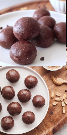 Chocolate Peanut Butter Protein Balls are a quick and easy snack that will give you a sweet pop of energy! Chocolate Peanut Butter Protein Balls are a quick and easy snack that will give you a sweet pop of energy! No Bake Energy Bites, Raw Energy Balls Recipe, Protein Power Balls Recipe, Date Protein Balls, Peanut Butter Protein, Chocolate Peanut Butter, Whey Protein, Vegan Chocolate, Healthy Protein Balls