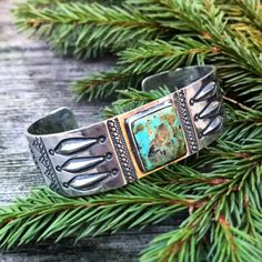 Larry Smith Silver / Turquoise Bracelet. (made in japan, craftsmanship)