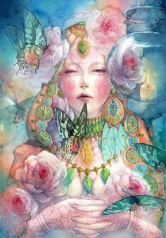 INSPIRATION ignites our INNER LIGHT and brings presence and reverence to life's mysteries. Through it, we connect without words to a HIGHER ENERGY and open to new possibilities that transcend our ordinary experiences and limitations. Blessings.   Artist: Zhu Hua