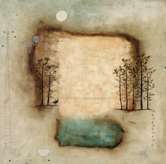 art journal inspiration. Nava Waxman – Using paper, wax, found copper objects, and whimsical imagery