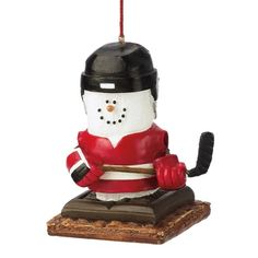 Midwest CBK Resin S'Mores Hockey Player Ornament
