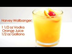 Drinks Made Easy: How To Make A Harvey Wallbanger