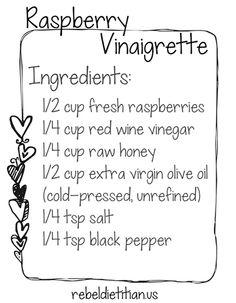 DIY rasberry Vinagrette