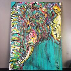 A man with a vision @roaming__elephant 🐘Coming to London in June! Who wants to meet him ? Murals around London DM me. #paint #gallery #mural #streetart #losangeles #london #interior #interiordesign #design #instaart #inspiring #art #travel #concept #commission #contemporary #abstract #creative #luxury #dream #savetheelephants #charity