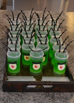 Push-Pop + Cricut + Jello = perfect plankton treats for Elle's Spongebob birthday party.
