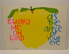 Sister Mary Corita Kent Poster Song With an Apple 10x14 VTG 1968 Serigraph EUC #PopArt