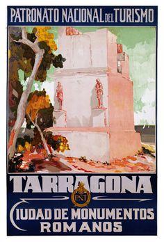 Tarragona Ciudad de Monumentos Romanos Vintage by WallArty
