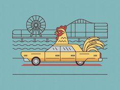 Chicken Car by Elias Stein, via Behance
