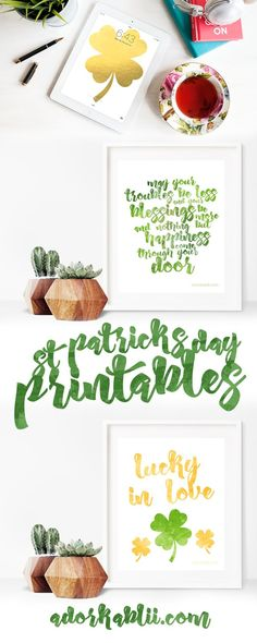 St. Patrick's Day is right around the corner and there so no better way to start Decorating then with these awesome St. Patrick's Day Printables! #StPatricksDay #StPatricksDayPrintables #Printables