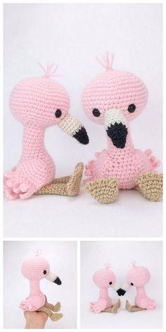 - Amigurumi Flamingo Free Pattern – Free Amigurumi Patterns Crochet Animal Patterns, Stuffed Animal Patterns, Crochet Patterns Amigurumi, Crochet Dolls, Crochet Dinosaur Pattern Free, Knitting Patterns, Crochet Flamingo, Flamingo Pattern, Easy Knitting Projects