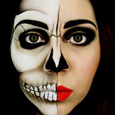 I love Halloween makeup. http://lover-of-makeup.tumblr.com/