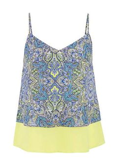 tiered chiffon tank in paisley print  (original price, $24) available at #Maurices
