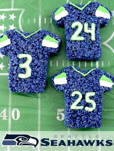 These Seattle Seahawks Rice Krispie Treats Team Jerseys are a fun football…