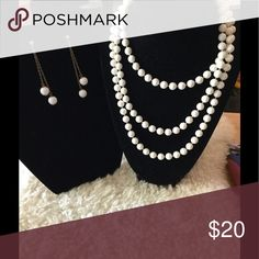 Earring and Necklace Set Earring and Bead Necklace Set Jewelry