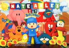 Let's Go Pocoyo Theme Party - Nate Axle's Birthday Party Fashion, 1st Birthday Parties, Princess Peach, Google Search, Kids, Character, Pocoyo, Young Children, Children