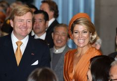29-10-2014 Queen Maxima and King Willem-Alexander on day 1 of the state visit to Japan.