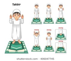 Muslim Prayer Position Guide Step by Step Perform by Boy Standing and Raising The Hands with Wrong Position Vector Illustration Islamic Teachings, Islamic Prayer, Islam Hadith, Islam Muslim, Miracles Of Islam, Prayer Position, Islam For Kids, Prayers For Children, Learn Quran