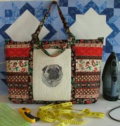 Tutorial for Tote using Rectangular Cross Stitch Piece