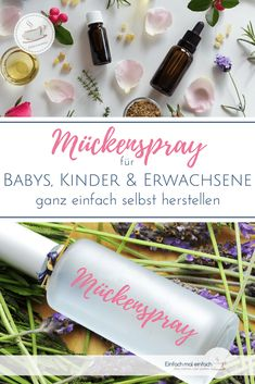 DIY mosquito spray - You can make a natural insect spray against mosquitoes and ticks with just a few ingredients. This mosquito spray protects children and adults biologically, cheaply and effectively. oil it Yourself The Body Shop, Tats With Meaning, Mosquito Spray, Natural Bug Spray, Yl Oils, Diy And Crafts, Crafts For Kids, Feeling Sick, Few Ingredients