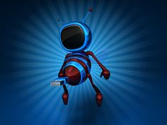 3D. Robot bee, computer generated by Julien Tromeur. Image #21758
