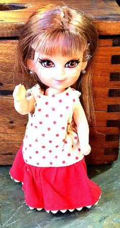 RARE Vintage Antique Estate 1967 Skediddle Kiddles Doll Mattel Liddle Kiddles Sheila