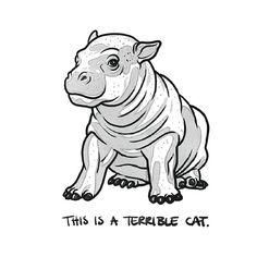 elinj:  Day 19. #inktober #stuffidrawwithmyhands #worstcats Inspired by worstcats.tumblr.com