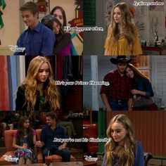 """Disney Channel Girl Meets World. Riley Matthews, Maya Hart and Lucas Friar. LUCAYA LOVE! Rowan Blanchard, Sabrina Carpenter and Peyton Meyer.  Love quote """"What happens when he's your prince charming but you're not his cinderella?"""""""