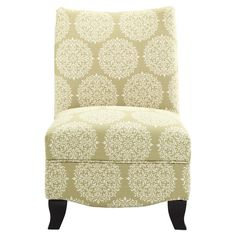 Donovan Slipper Chair in Moss