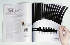 Clinique mascara | interactive print ad
