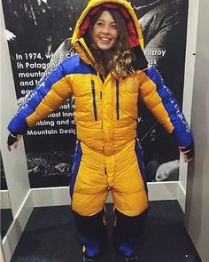 When the Antarctic down suit (aka wearable doona cover) arrives in at work and you just gotta try it. I look HOT Cool Ski Jackets, Ski Jumpsuit, Down Suit, Winter Suit, Womens Wetsuit, Puffy Jacket, Jackets For Women, Clothes For Women, Snow Pants