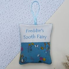Peter Rabbit Tooth Fairy Pillow Bag by Tuppenny House Designs, the perfect gift for Explore more unique gifts in our curated marketplace. Peter Rabbit Fabric, Bed With Posts, Tooth Fairy Pillow, Blue Bags, Baby Love, Little Boys, Your Child, Teeth, Unique Gifts