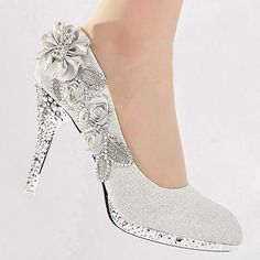 Wedding Shoes   Bride / Bridal / Bridesmaid / Prom / Shoes   White   Size 4  UK
