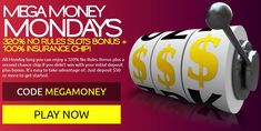 Mega Money Mondays at Club Player casino - play with NO WAGERING. Plus, get insurance as a free chip if you were not able to cashout. Best Casino, Casino Bonus, Online Casino, Mondays, How To Apply, Club, Free, Usa, U.s. States