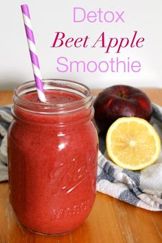 Healthy Detox Beet Apple Smoothie - The Best of this Life Smoothie Detox, Best Smoothie, Apple Smoothie Recipes, Detox Juice Recipes, Cleanse Recipes, Juice Smoothie, Smoothie Drinks, Detox Drinks, Detox Juices
