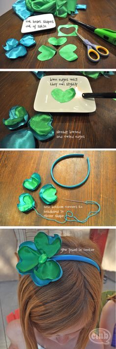 Craft Your Own Satin Headband with your Tween/Teen- great party activity