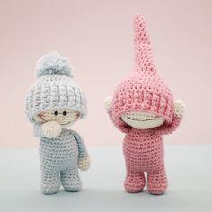The Little Doodahs Wilbur and Bertie amigurumi pattern by LittleAquaGirl