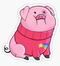 """""""Gravity Falls - Waddles"""" Stickers by Shadorama Stickers Kawaii, Cartoon Stickers, Tumblr Stickers, Phone Stickers, Cool Stickers, Printable Stickers, Planner Stickers, Cartoon Art, Gravity Falls Waddles"""