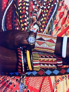 Detail of Massai bead work. Things like this make me wanna shut up somewhere surrounded by beands and attempt to make something like this. ...
