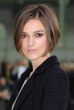 Casual Short Straight Concave Bob Hairstyles - Keira Knightley Bob Haircut