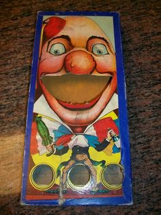 1910s Clown Ball Toss Game Great Graphics
