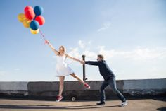 Johannesburg rooftop engagement shoot with balloons Go The Extra Mile, Love People, Engagement Shoots, Couple Photography, Rooftop, Balloons, Running, Couple Photos, My Love