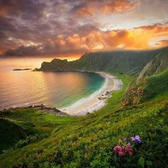 Hoyvika Beach, Norway ~ Hidden World Wonders