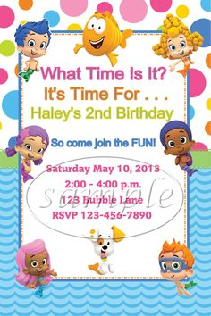 Bubble Guppies Birthday Party Invitations by KiddieCreations1, $15.00