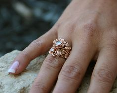 Wexford Jewelers | our passion is design >> Jane's Rose Wedding Set, Rose Gold & Diamond
