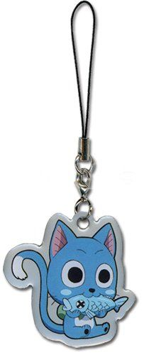 Anime Merchandise :: Keyrings :: Fairy Tail - Happy Phone Charm - AnimUK - UK retailer of anime merchandise