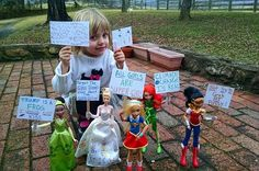 This Four-Year-Old Had Her Own Women's March With Dolls